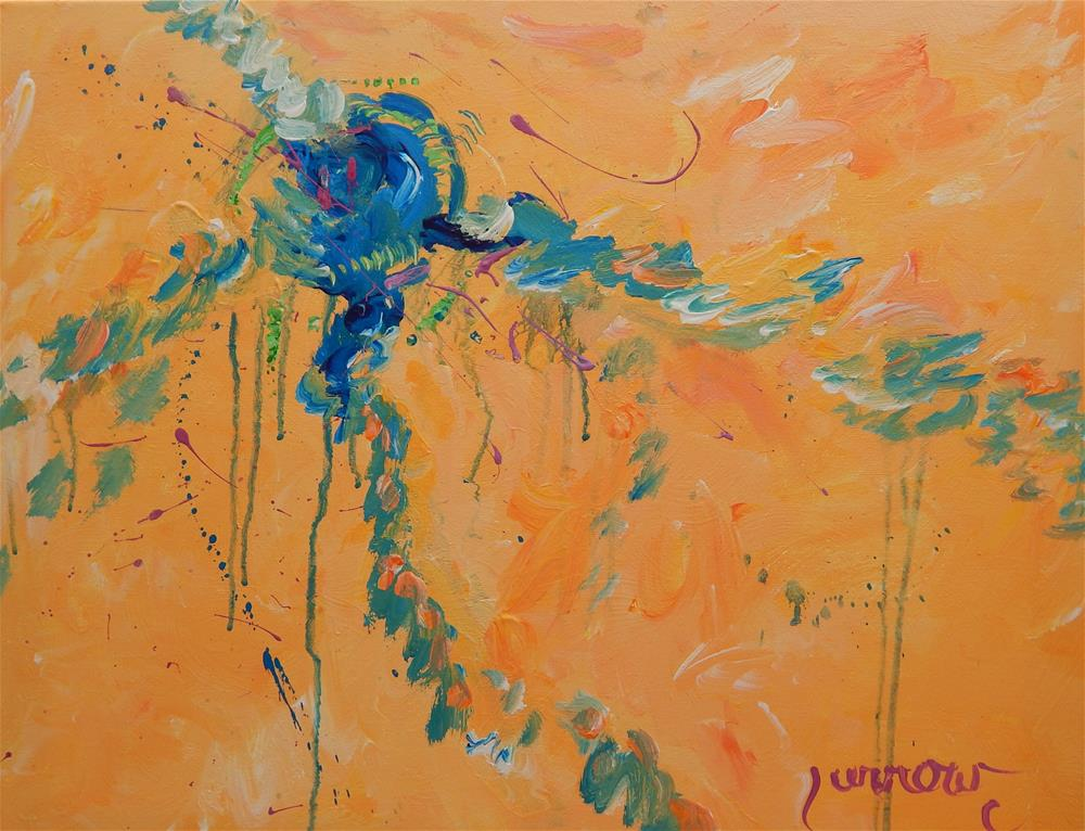"""Water Spider"" original fine art by Sue Furrow"