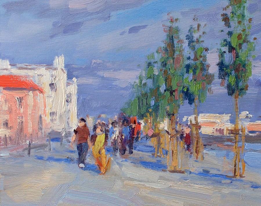 """""""Passeio Ribeirinho de Lisboa"""" original fine art by Lena  Rivo"""