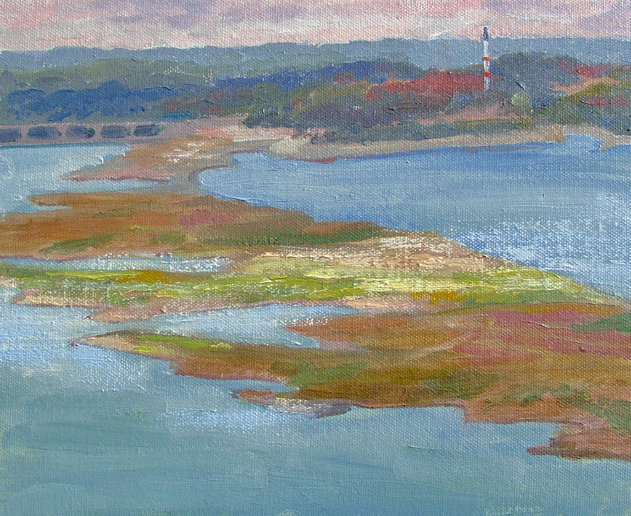 """Lake Travis, Austin, Texas"" original fine art by Nancy Paris Pruden"