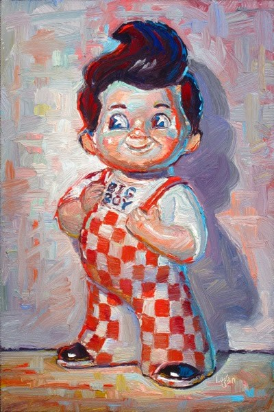 """Bob's Big Boy Coin Bank"" original fine art by Raymond Logan"