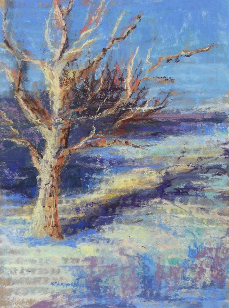 """Winter's Glow"" original fine art by Becky Chappell"