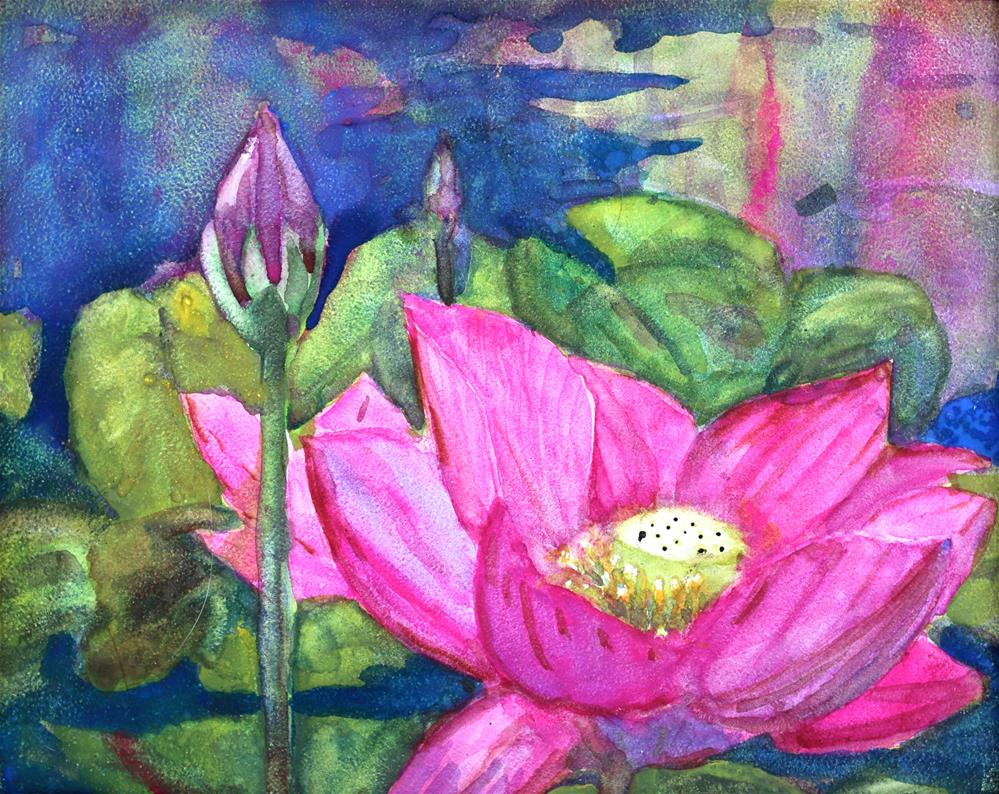 """Water Lilly"" original fine art by Michael Saunders"