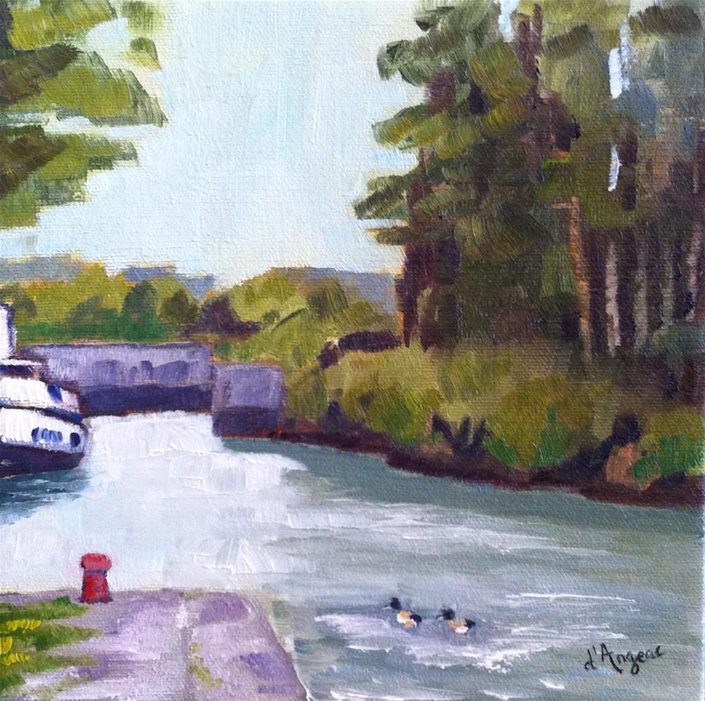 """River Boat"" original fine art by Karen D'angeac Mihm"