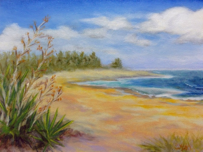 """Agave At The Beach"" original fine art by Dalan Wells"