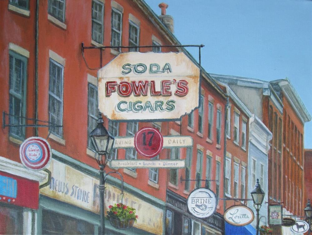 """State Street"" original fine art by Debbie Shirley"