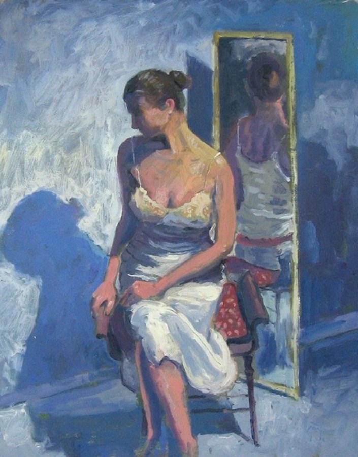 """Seated Figure"" original fine art by Doug Gorrell"