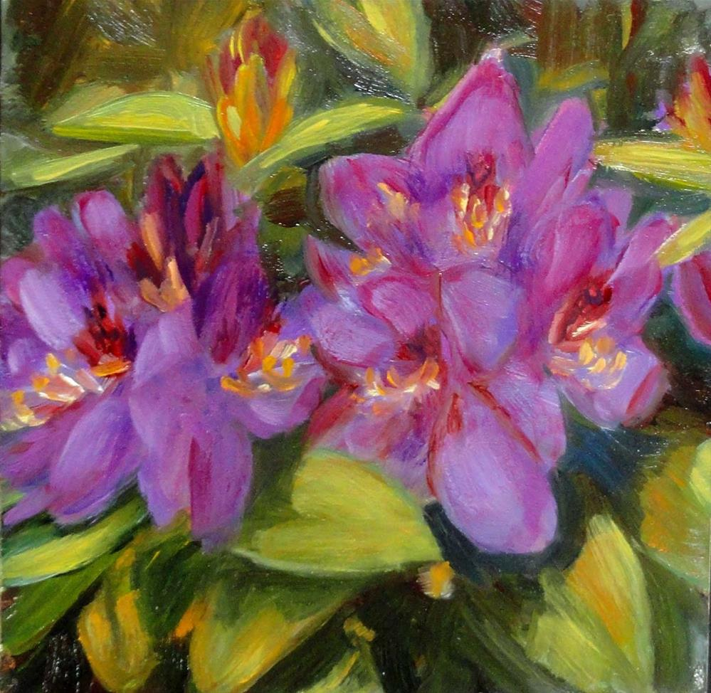 """Rhododendrons"" original fine art by Cietha Wilson"