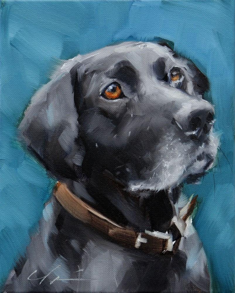 """The Daily Dog - Seventeen"" original fine art by Clair Hartmann"