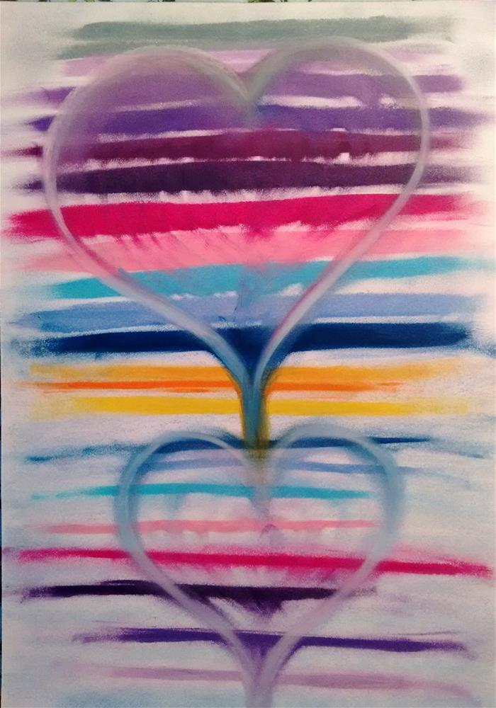 """""""Love is Flowing"""" original fine art by Adéla Svobodová"""
