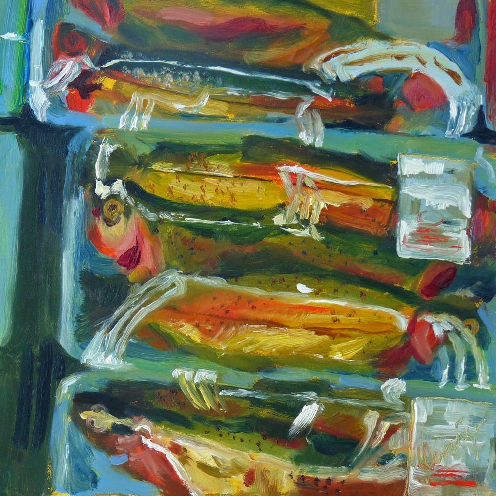 """Fishmonger"" original fine art by Sharman Owings"