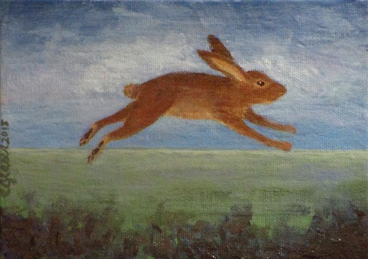 """""""Super Cute Bunny =)"""" original fine art by christina glaser"""
