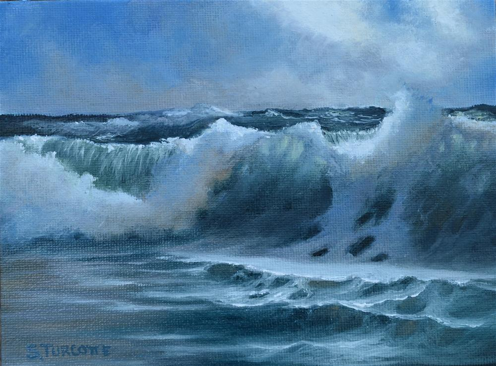 """Wave Study #3"" original fine art by Shayna Turcotte"