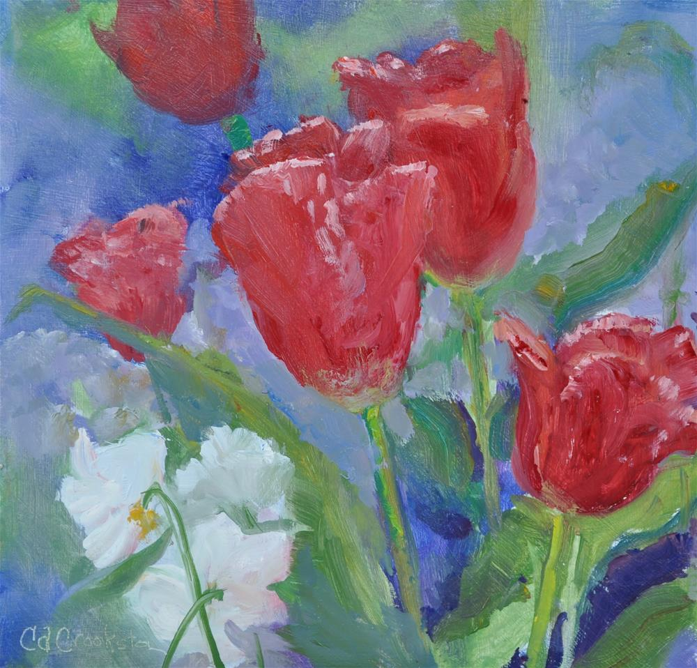 """red tullips"" original fine art by Catherine Crookston"