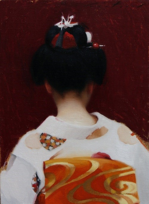 """The Scarlet Fringe (Sakkou)"" original fine art by Phil Couture"