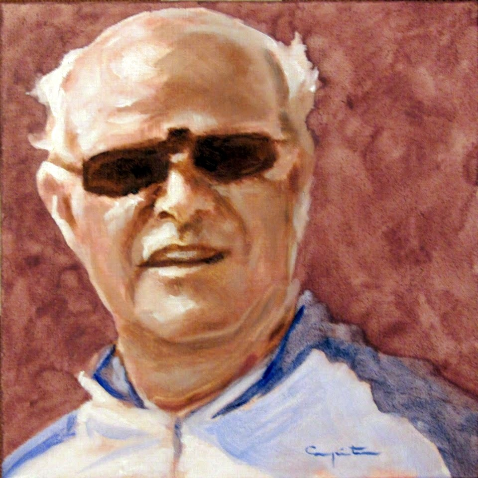 """Con gafas de sol"" original fine art by Eduardo Carpintero"