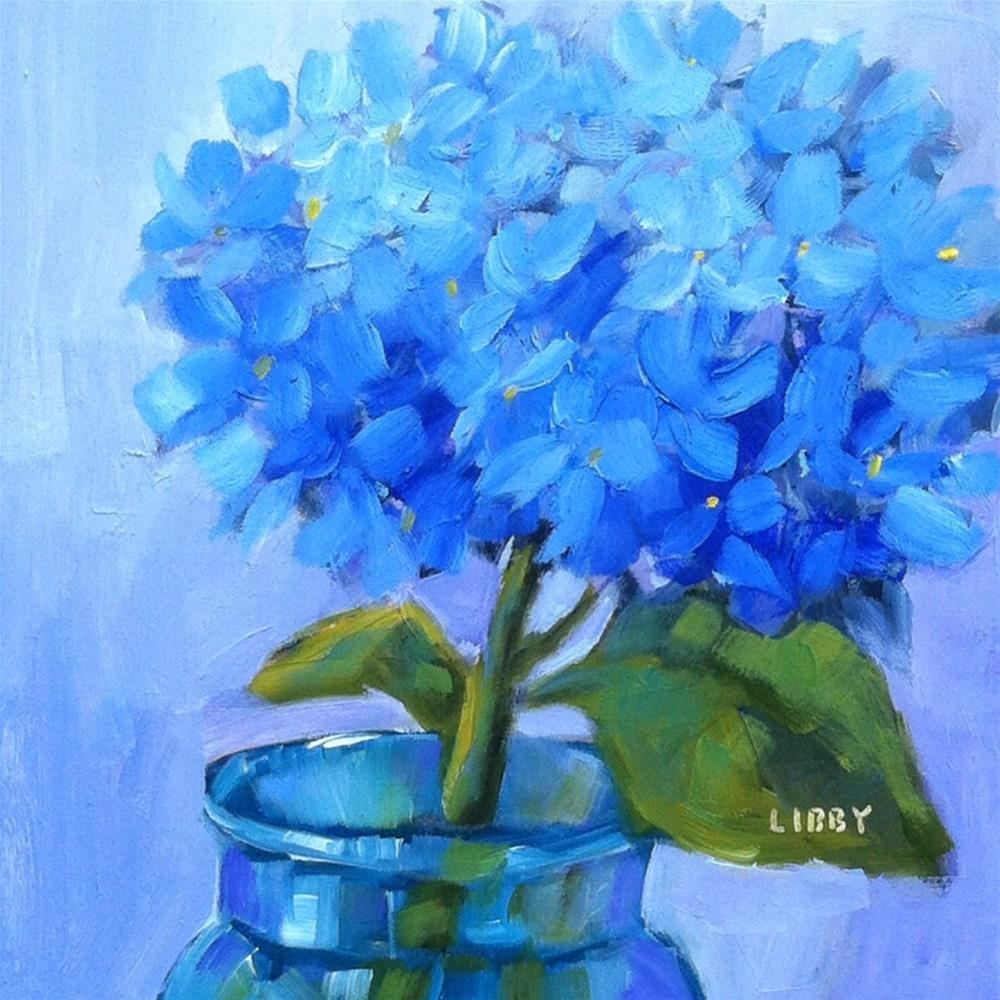 """Blue for One"" original fine art by Libby Anderson"