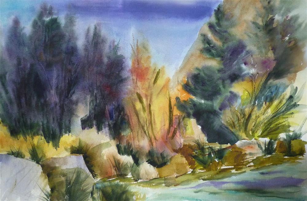 """Across the Creek"" original fine art by Kristina Hess"