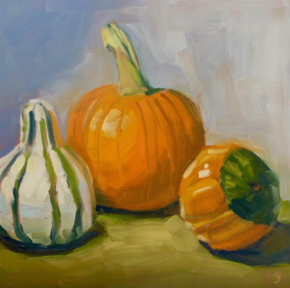 """""""Gourd Trio"""" original fine art by Jamie Stevens"""