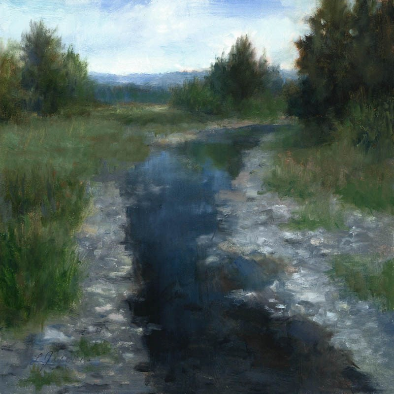 """Creek Bed, Eatonville, WA"" original fine art by Linda Jacobus"