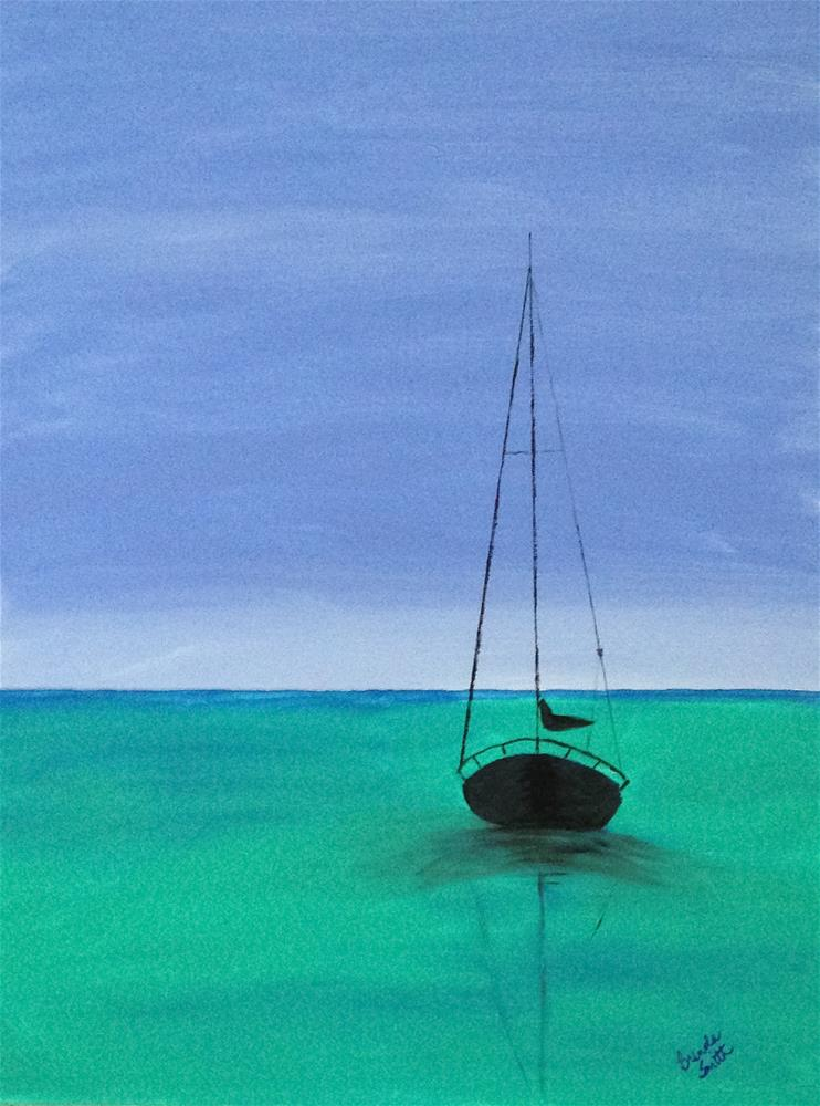 """Anchored in Peace"" original fine art by Brenda Smith"