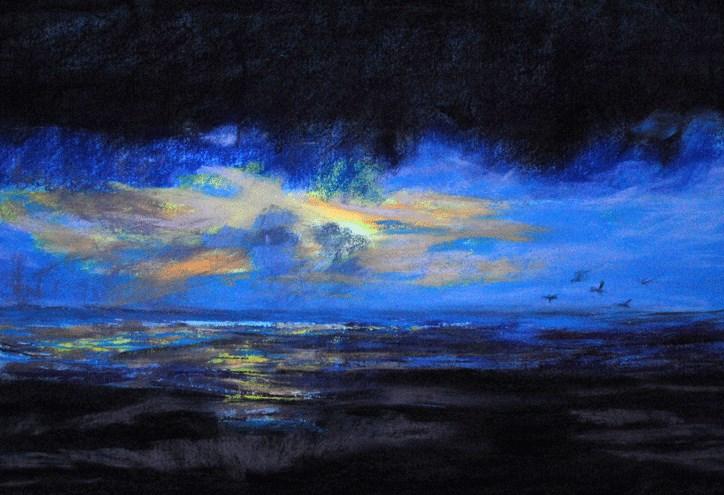 """Creeping Nigh (Fini)"" original fine art by Donna Crosby"