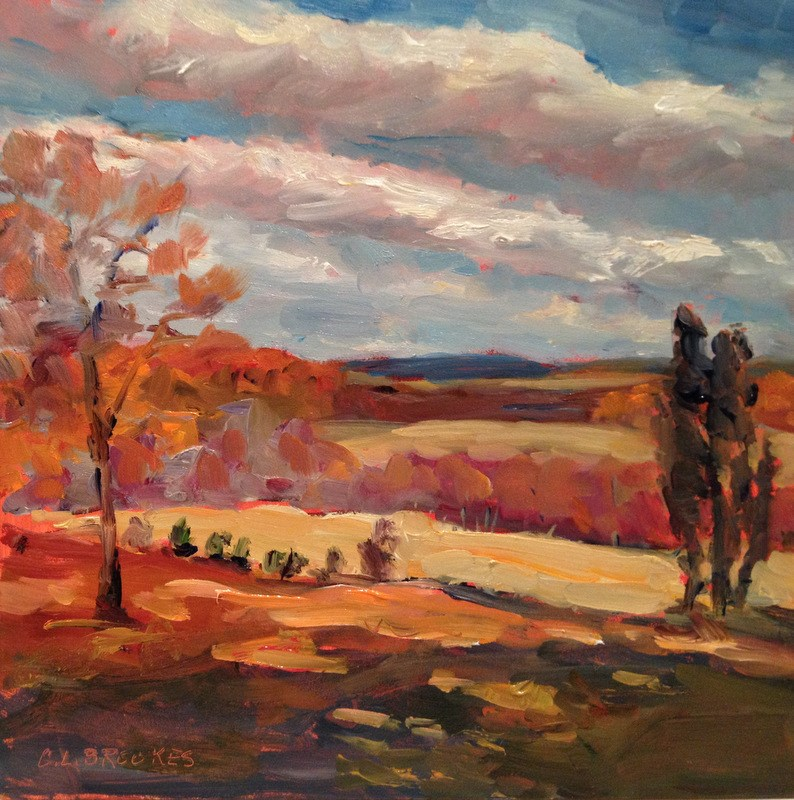 """October Sky from Saint James, Day 48"" original fine art by Claudia L Brookes"