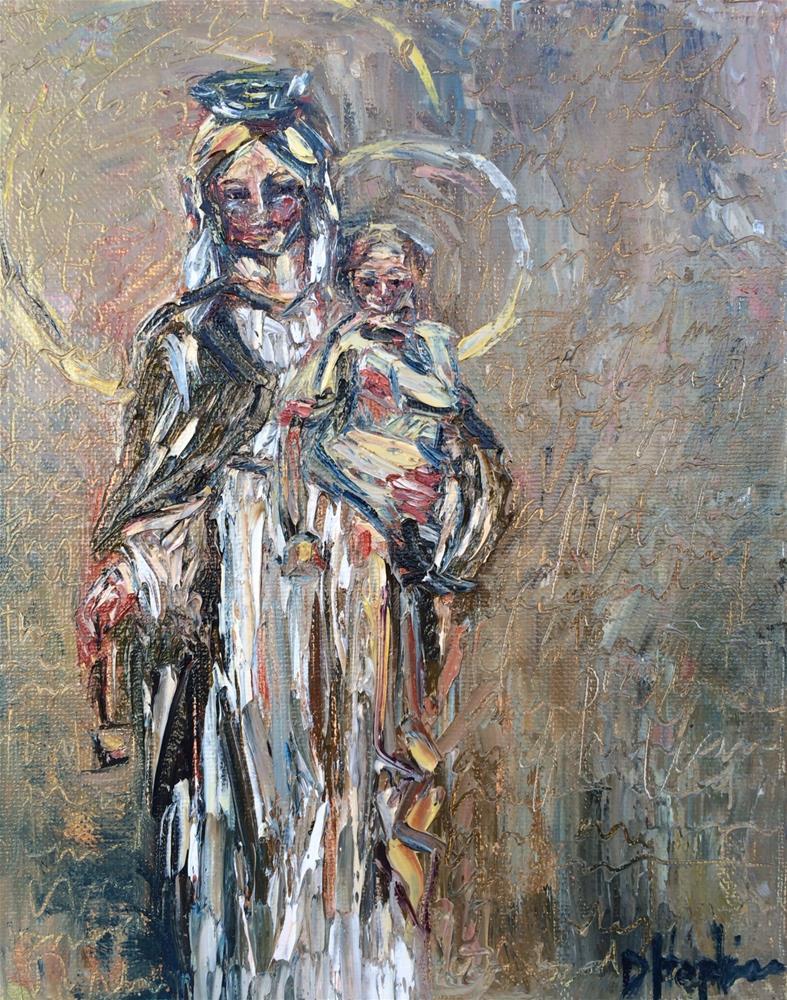 """Our Lady of Mount Carmel"" original fine art by Denise Hopkins"