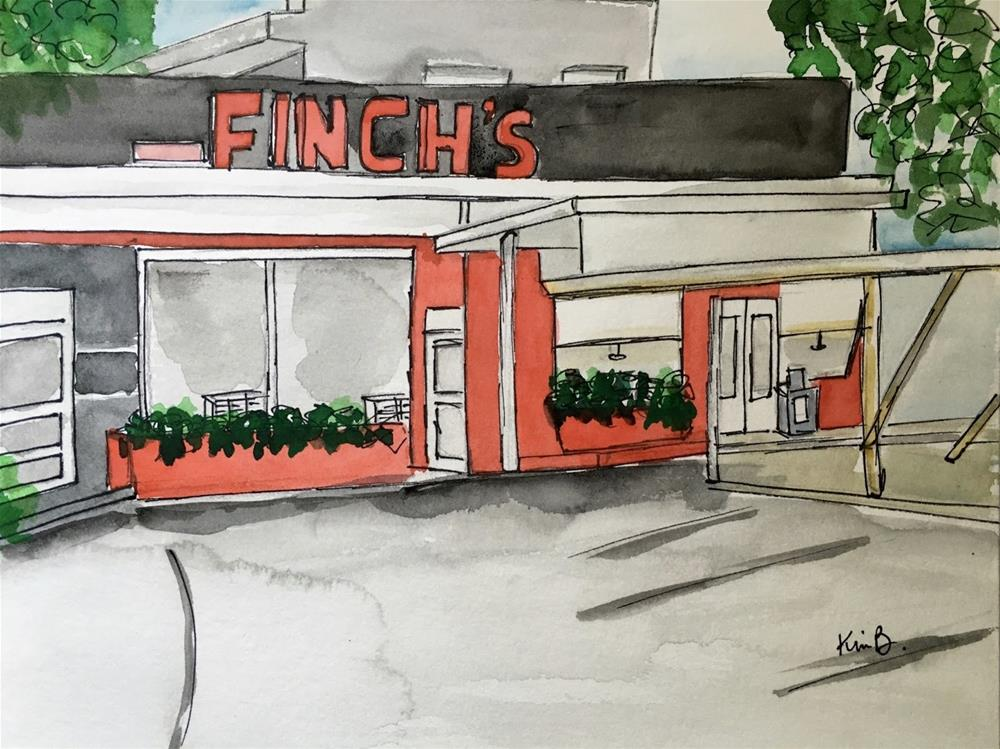 """#14-30in30 Finch's Drive Through"" original fine art by Kimberly Balentine"