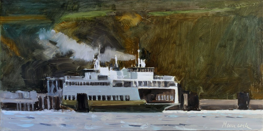 """North End Ferry"" original fine art by Gretchen Hancock"