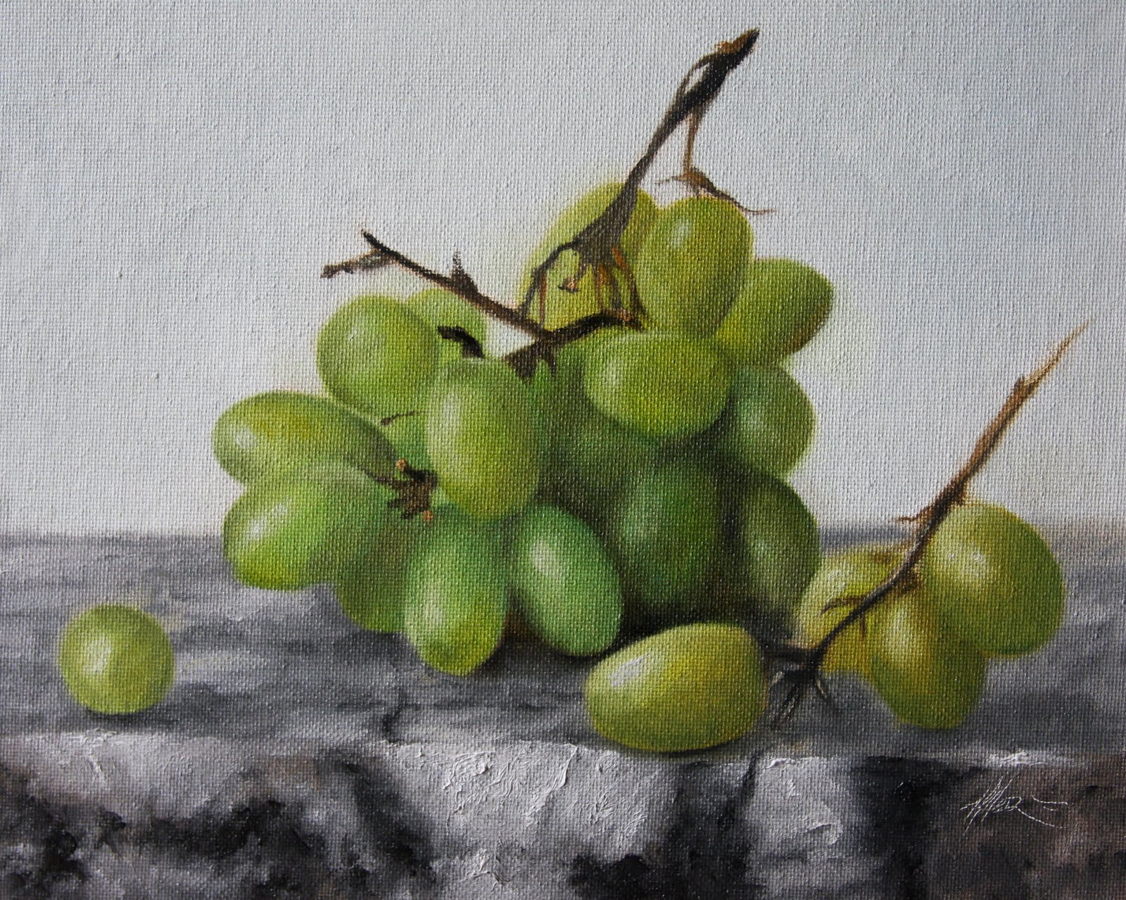"""Grapes & Marble"" original fine art by Jonathan Aller"