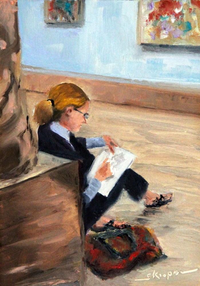 """Sketching the Masters"" original fine art by Shelley Koopmann"