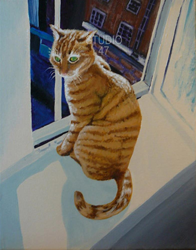 """City Cat"" original fine art by Amanda Stacey"