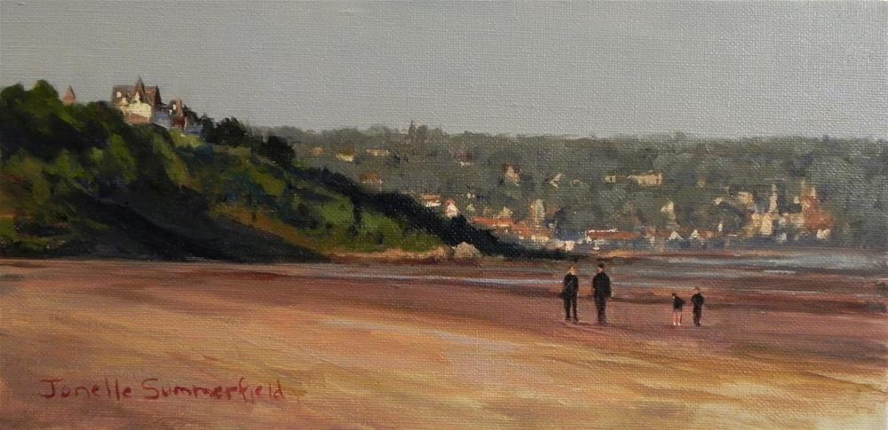 """Deauville Beach"" original fine art by Jonelle Summerfield"