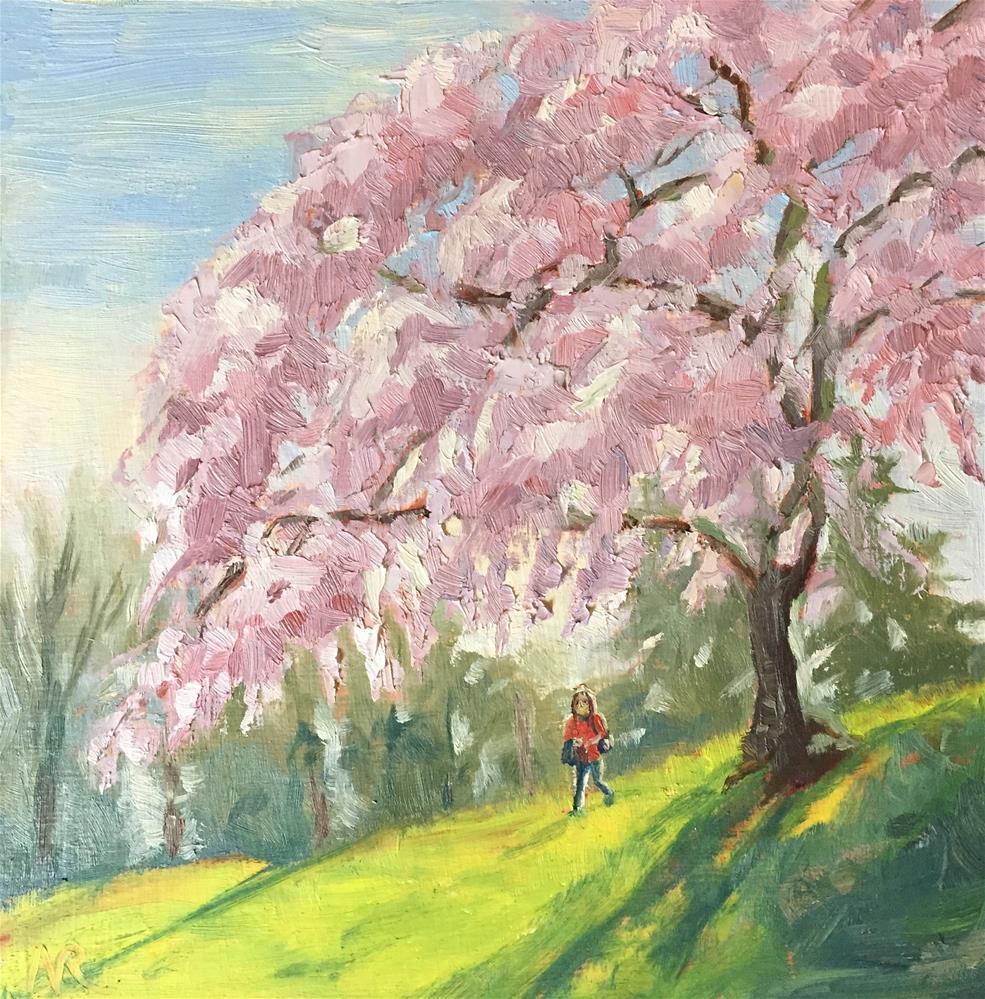 """An old blooming cherry tree"" original fine art by Natasha Ramras"