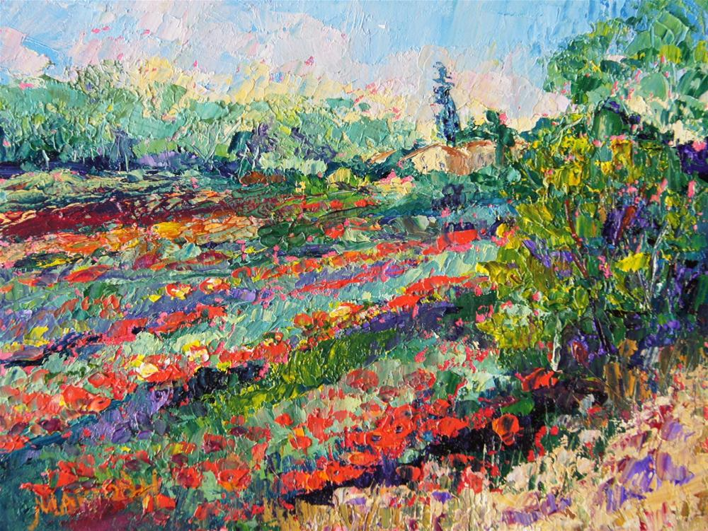 """Provence Poppy Extravaganza"" original fine art by Marion Hedger"