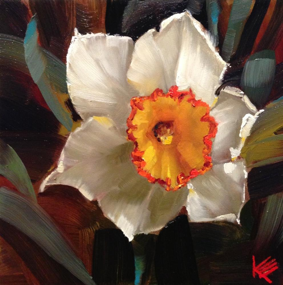 """Narcissus"" original fine art by Krista Eaton"