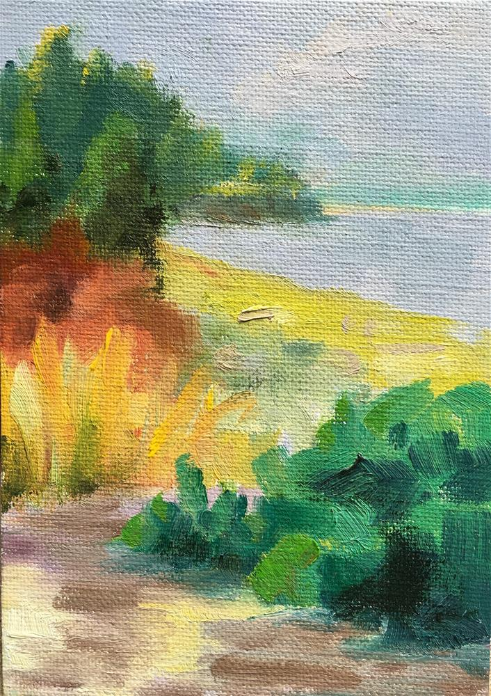 """Favorite Beach"" original fine art by Tracy Wise"