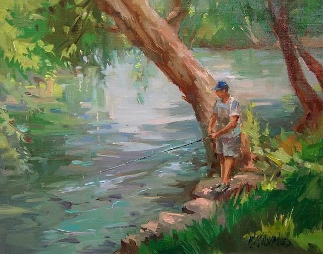 """Summertime"" original fine art by Mary Maxam"