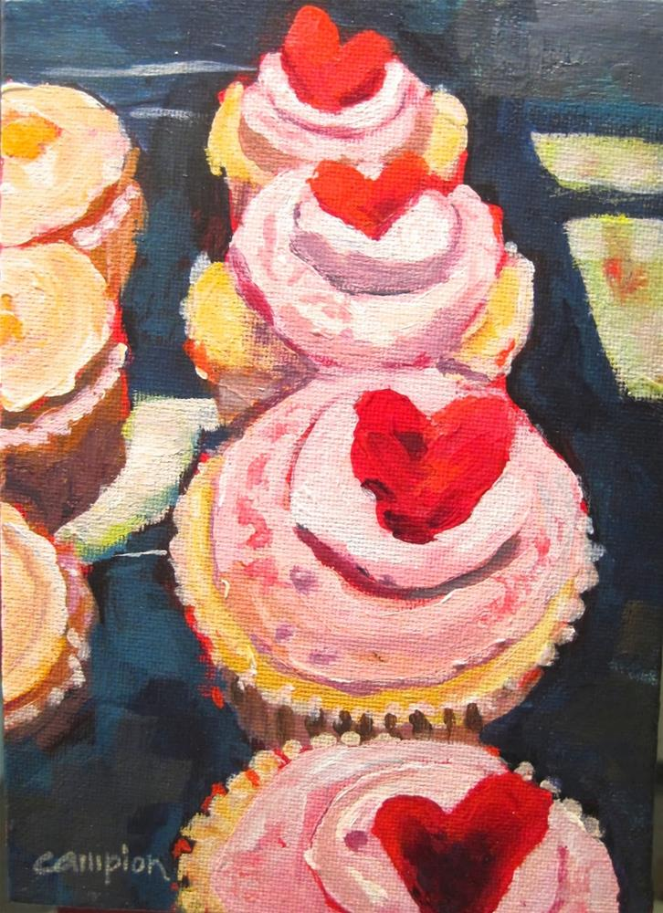 """278.  Sweetie Cakes"" original fine art by Diane Campion"