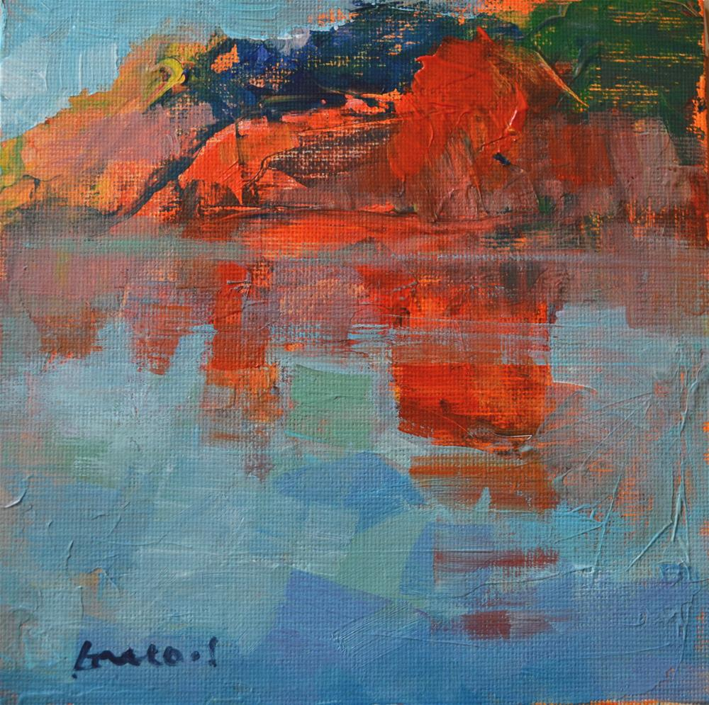 """red rocks"" original fine art by salvatore greco"