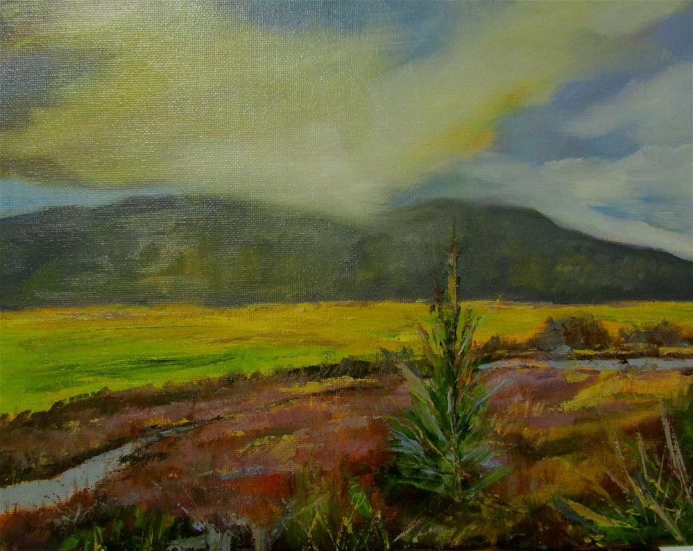 """11 x 14 inch oil Cowichan Estuary #11"" original fine art by Linda Yurgensen"