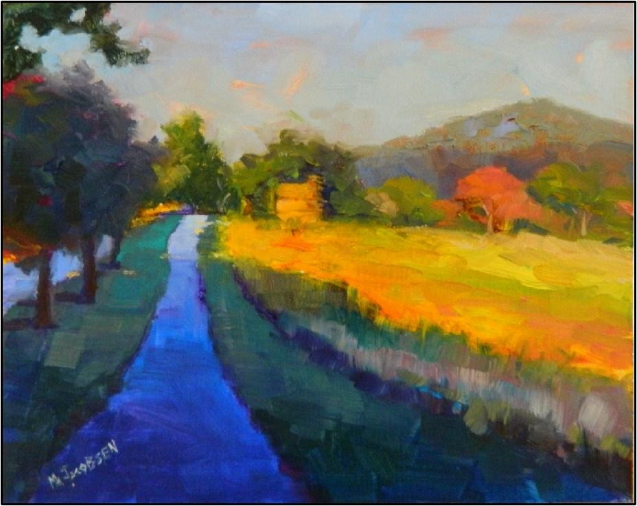 """Morning on Valley Forge Mountain"", 8x10, oil on board-Valley Forge, encampment, Washington , Revolu original fine art by Maryanne Jacobsen"