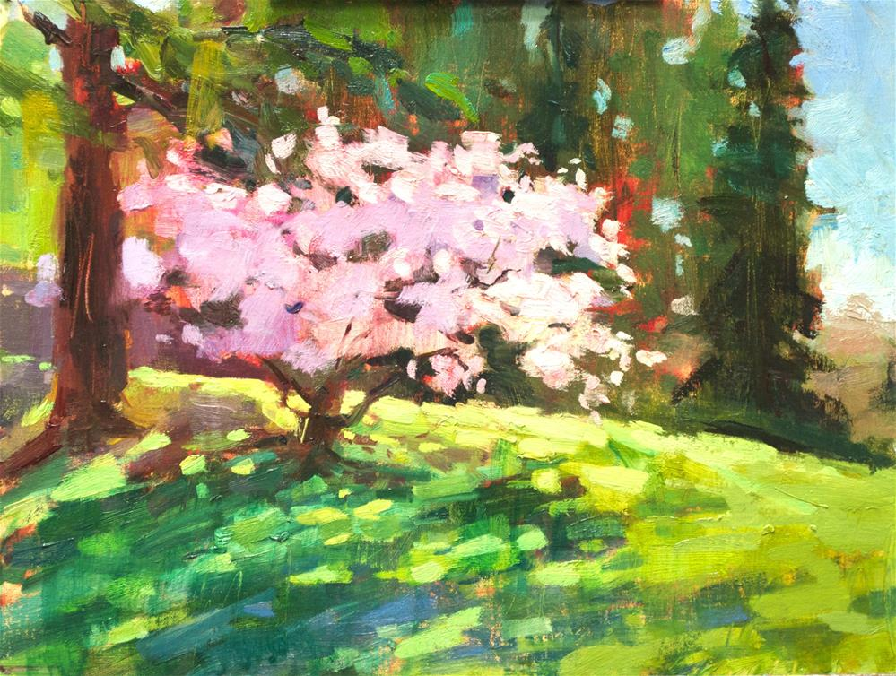 """Sakura Bloom"" original fine art by Emiliya Lane"