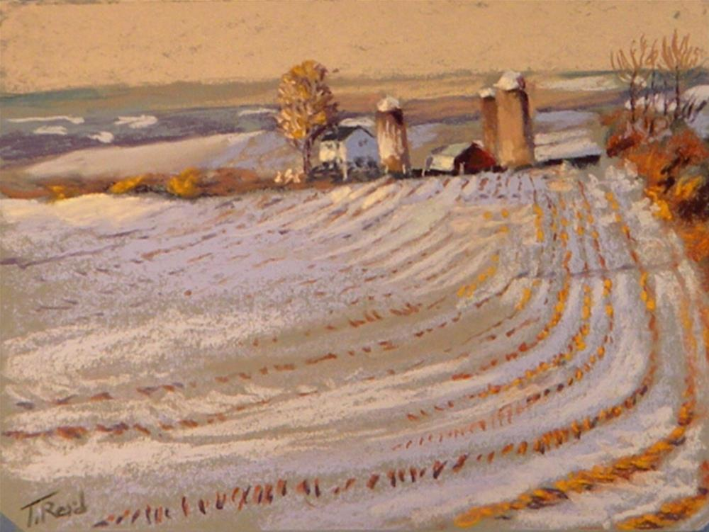 """New Jersey farm"" original fine art by Toby Reid"