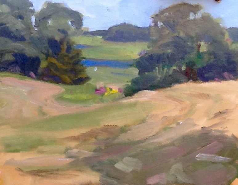 """Freshly Mowed"" original fine art by Elizabeth Bish"