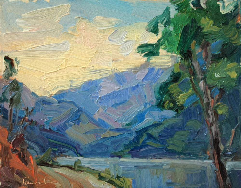 """South from Stehekin"" original fine art by Kathryn Townsend"