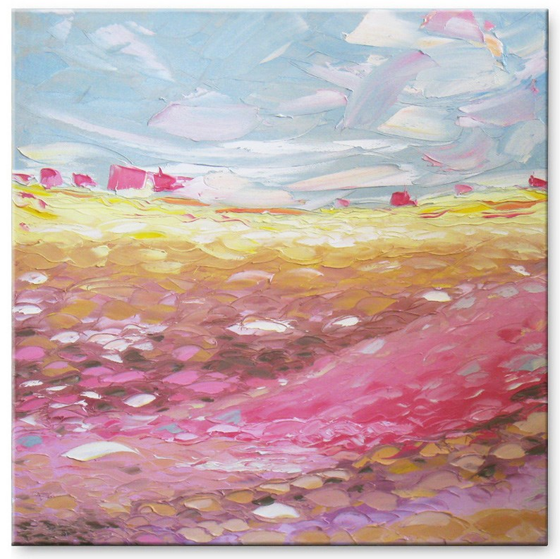 """Rose valley"" original fine art by Elena Lunetskaya"