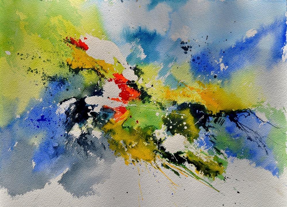 """""""watercolor 410141"""" original fine art by Pol Ledent"""