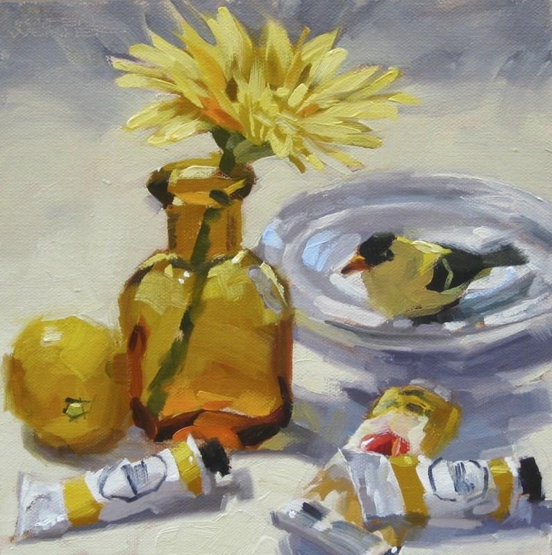 """""""Ode To Yellow"""" original fine art by Karen Werner"""