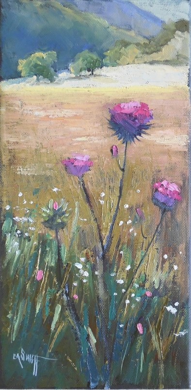 """Thistle Painting 
